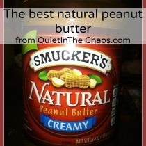 Best Natural Penut Butter- no additives, sugar, or dangerous chemicals