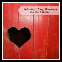 Free Valentine's Day Resources for Prek-K from Quietinthechaos.com