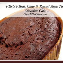 Healthy, whole wheat (dairy and refined sugar free) chocolate cake- Better then regular homemade chocolate cake. And easy!