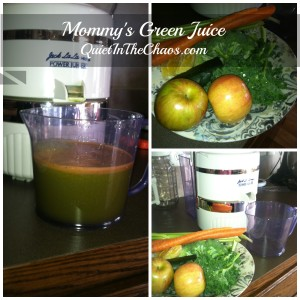 Mommy's Green juice Recipe *Quiet in the Chaos*