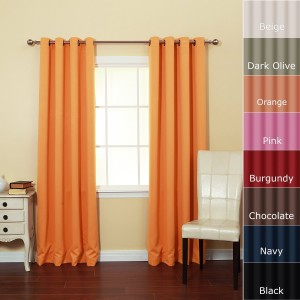 Bright blackout curtains