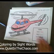 coloring by SIght Words