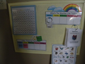 Calendar Boards Learning Time Organization {Quiet In The Chaos}