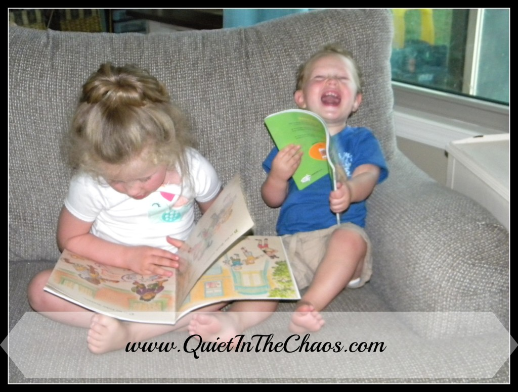 reading together {Quiet In The Chaos}