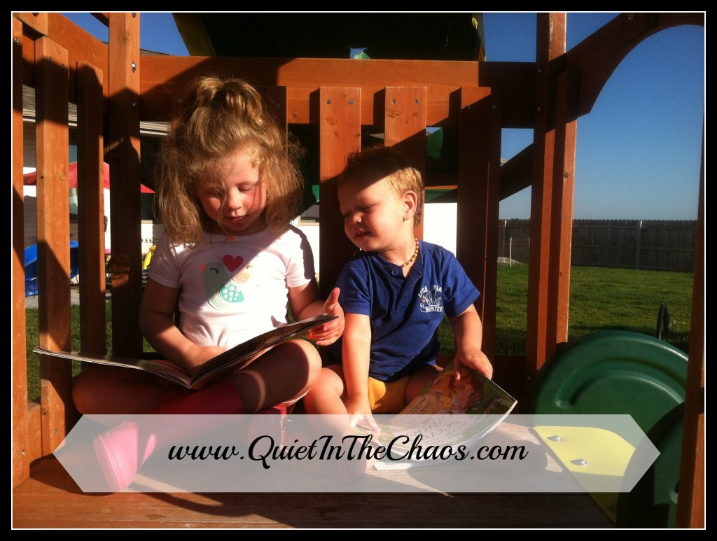 "reading in their ""treehouse"" {Quiet In The Chaos}"