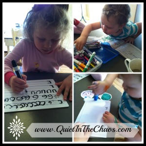 Handwriting Practice and Fine Motor {quietinthechaos.com}