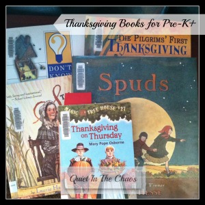 Thanksgiving Books for Pre-K +