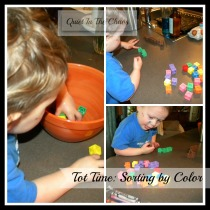 Tot Time {sorting by color- Quiet In The Chaos}