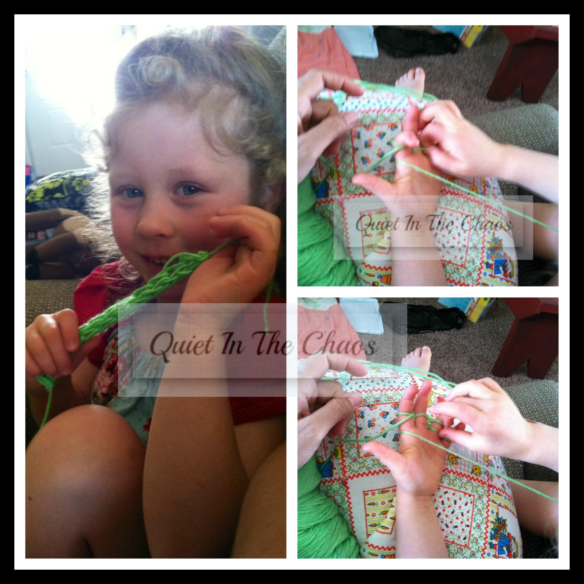 Charlotte Mason Handicrafts {finger knitting}