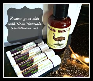 Restore and soothe your skin Naturally- Koru Naturals {Quietinthechaos.com}