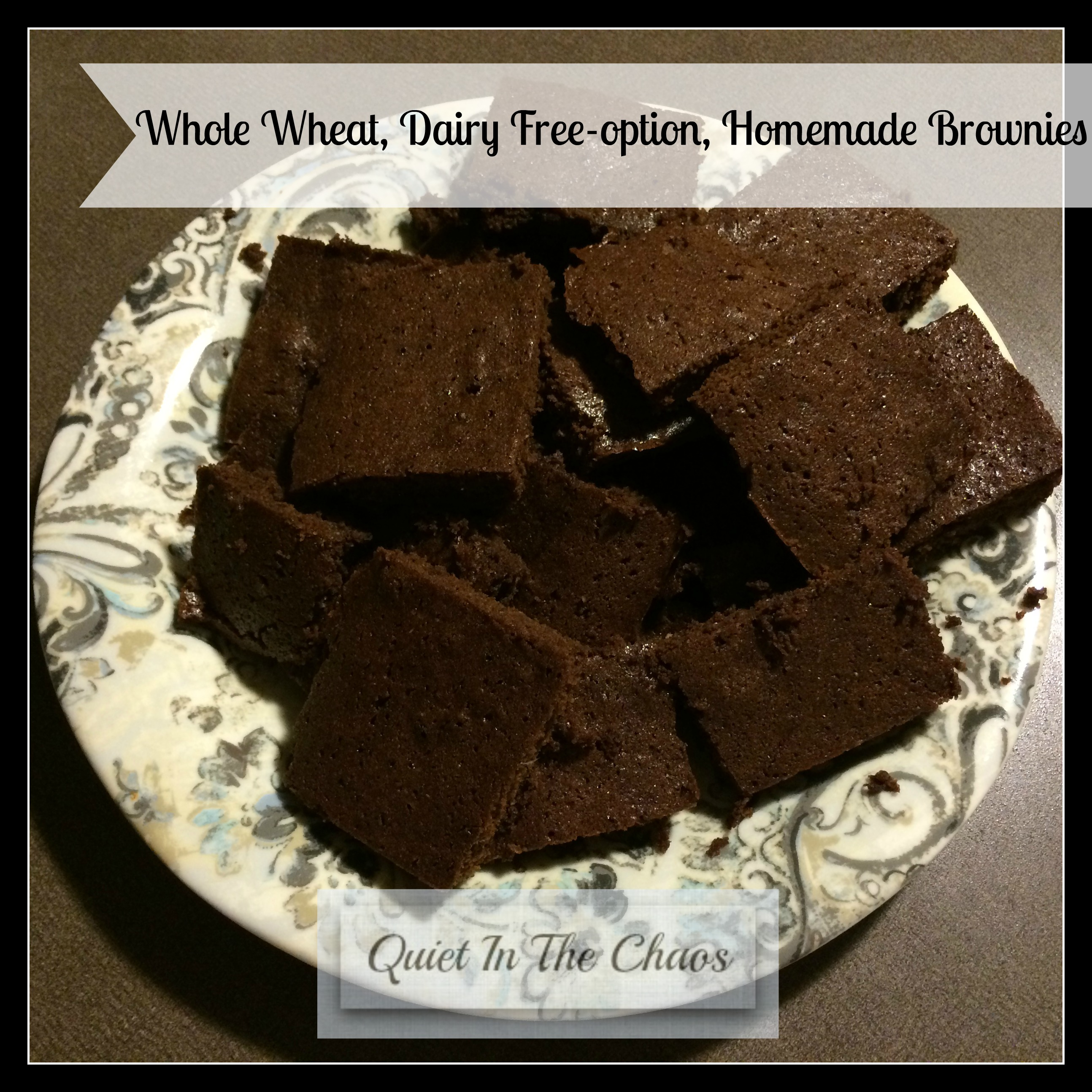 Delicious, Whole Wheat, Super Chocolate Brownies