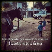 I wanted to be a farmer