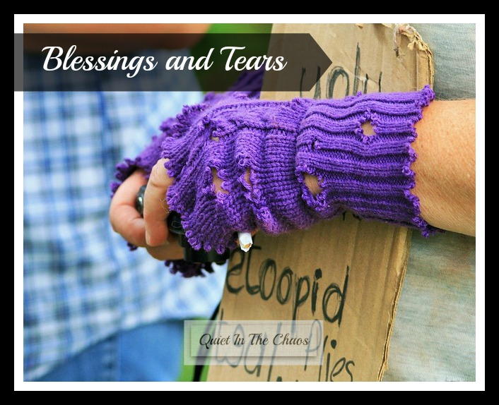 Tears and blessingssharing love