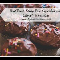 Real Food, Dairy Free Cupcakes with Frosting