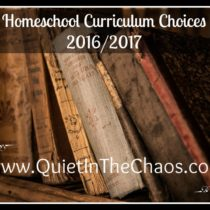 homeschool choices 20162017