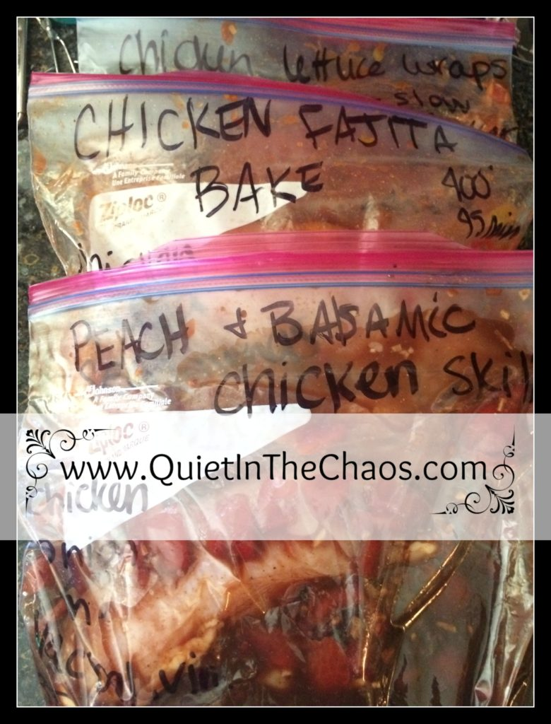 Chicken meal plan recipes {MyFreezEasy review}