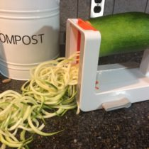Fresh Zucchini noodles from garden