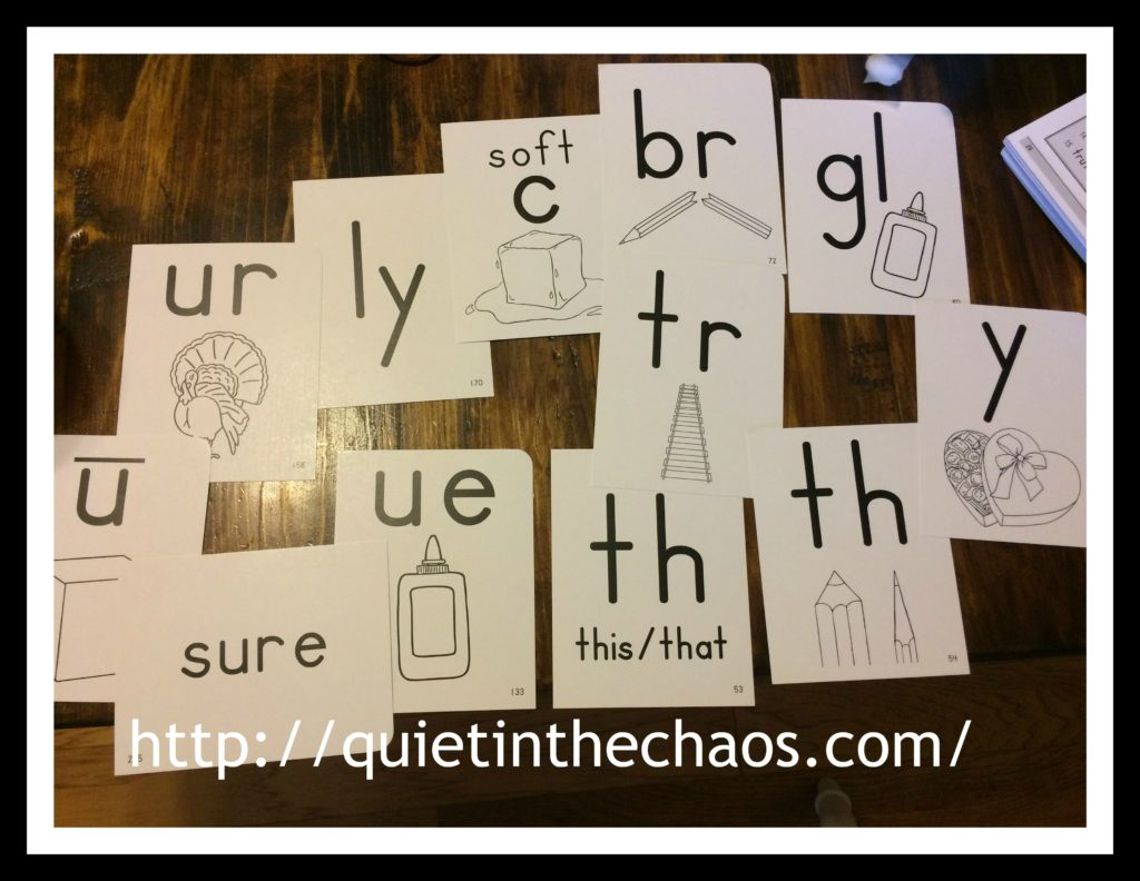 Memoria Press Lesson 7 Phonics Cards