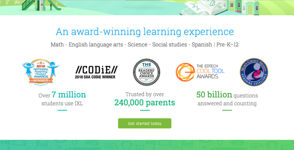 IXL Award Winning Learning