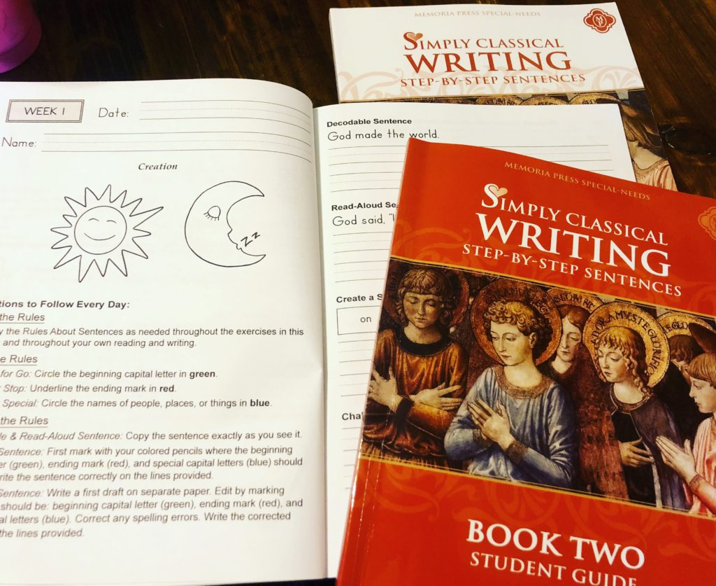 Homeschool Writing with Memoria Press #hsreviews #homeschool #writing #elementarywritingskills